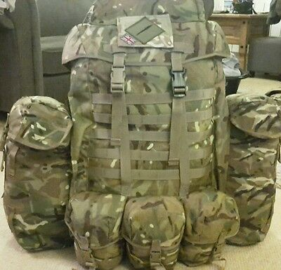 british military 100ltr MTP bergen with rocket pouches