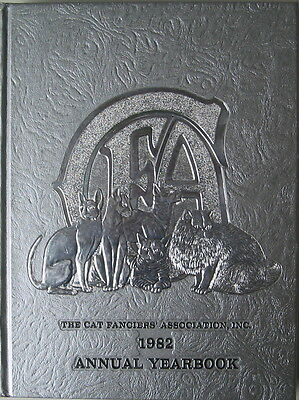 Vintage Cat Book  The Cat Fanciiers' Association Inc.  1982 Yearbook