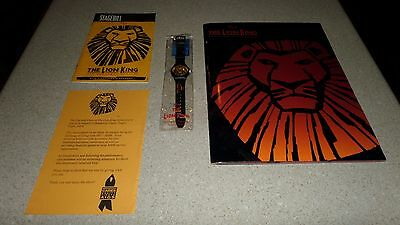 1997 The Lion King The Broadway Musical Program, Stagebill & Collector Watch NEW