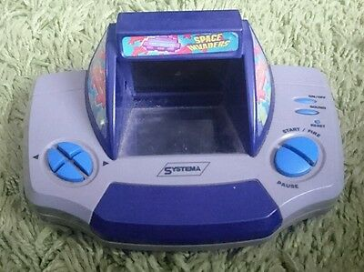 Systema Space Invaders Electronic Handheld Game