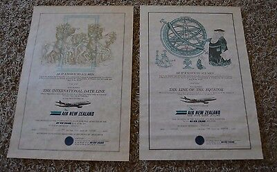 Air New Zealand Certificate of Crossing the International Date Line - Equator