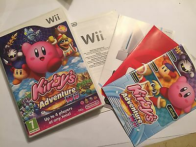 THE BOX ITS ARTWORK & INSTRUCTION BOOK ONLY FOR KIRBY'S ADVENTURE Wii NINTENDO