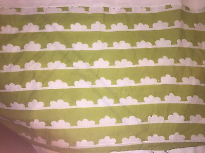 Anthropologie Bella Hothouse Lime Green Queen Bedskirt