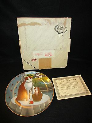 LYNELL Cat Collectors Plate Eyes Of The Season Spring Ltd Ed 1981 COA & Box