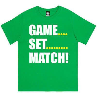 Game Set Match Boys Wimbledon Tennis Grand Slam Tournament Kids T-Shirt