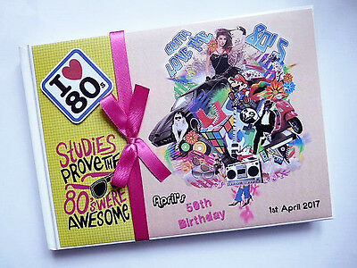Personalised I Love 80's Birthday Guest Book - Any Design