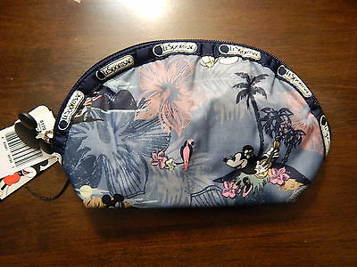 NWT LeSportsac Medium Dome Cosmetic Pouch Disney Minnie $28 Vacation Paradise