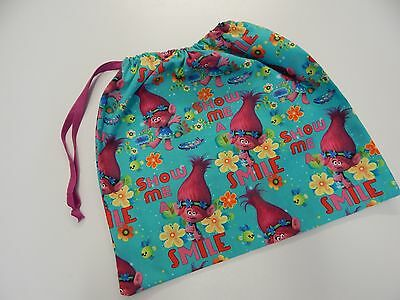 Library  Bag Swimming Kindy Drawstring  - Penny Troll - PRINT ON BOTH SIDES!!