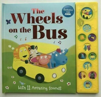 The Wheels On The Bus Sound Book With 8 Fun And Noisy Sounds Kids Ages 0 Month+
