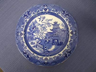 D1007 Vintage BURLEIGH WARE BLUE WILLOW Dish Plate England