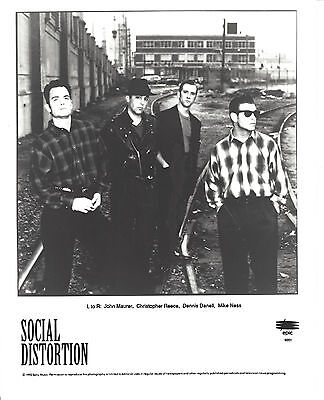 Social Distortion -  8x10 B&W  Record Company Publicity Photo 1992