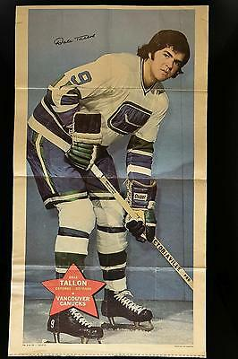 1971-72 O-Pee-Chee Posters #5 Dale Tallon HOCKEY CARD