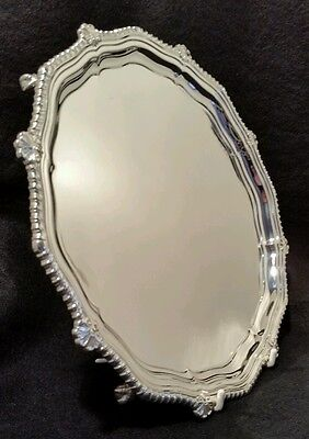Georgian style sterling silver salver. Sheffield 1961. By Cooper Brothers & Sons