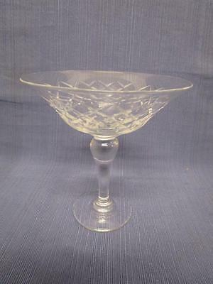 D1021 Vintage Long Stem WEBB CORBETT Crystal Comport Dish Bowl