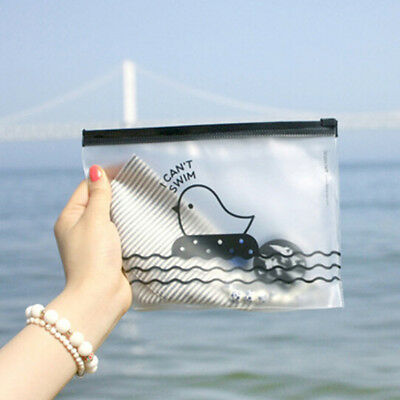 Clear Chicken Pen Bag Pencil Holders Storage Supplies Stationery Cosmetic Cases