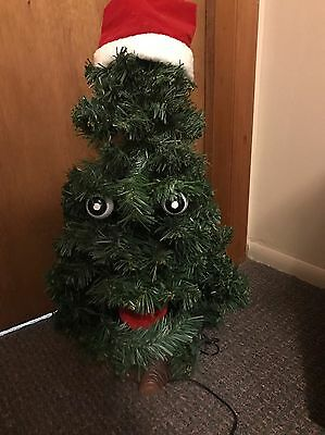 """DOUGLAS FIR TALKING TREE Motion Activated Animated Singing 16"""" Gemmy"""