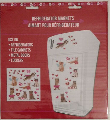 NEW Valentine's Day Love Messages Refrigerator Magnet Set Cats Your Purr-fect