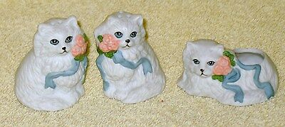 Cat Or Kitten Salt And Pepper Shakers With Matching Toothpick Holder