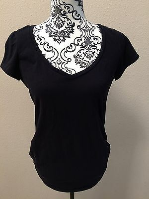 Bump Start Maternity By Motherhood Medium M Basic Black V Neck Shirt Top