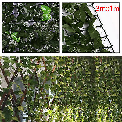 Black Friday! Artificial Ivy Leaf Screen Hedge Garden Fence Wall Mat 3m x 1m