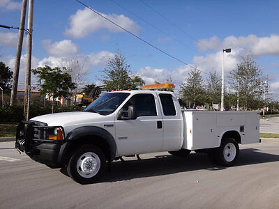 2007 Ford F-550 Service Utility Body 4X4 2007 Ford F550 4X4 Extended Cab Service Utility Body 1 Owner FL Truck Winch