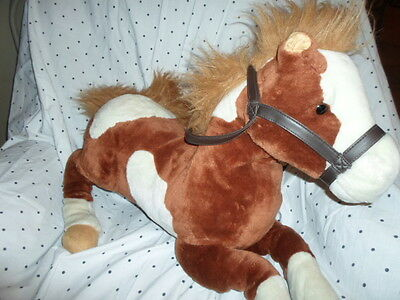 "E&J Classic Pony Horse 29""  Brown White Plush Soft Toy Stuffed Animal"