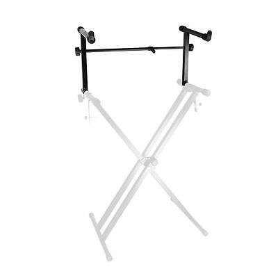 Portable and Adjustable Metal Second Tier for Keyboard Stand