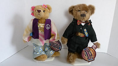 Brass Button Bears DEX and IVY with stands and New with Tags