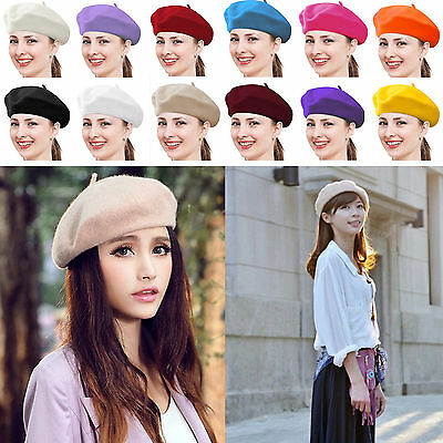 Beret Hats For Women Khaki Beanie Fashion Winter Artist French TRENDY Cap Gift