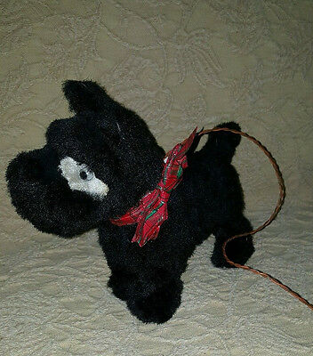 1950s Cragstan Alps SCOTTY DOG Japan Battery Operated Walking Barking Toy Puppy