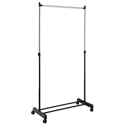 Protable Airer Clothes Coat Garment Hanging Rail Rack Storage Stand On Wheels