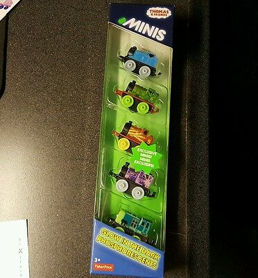 *Thomas Minis*GLOW in the dark*EXCLUSIVE* Five 5 pack very hard to find.
