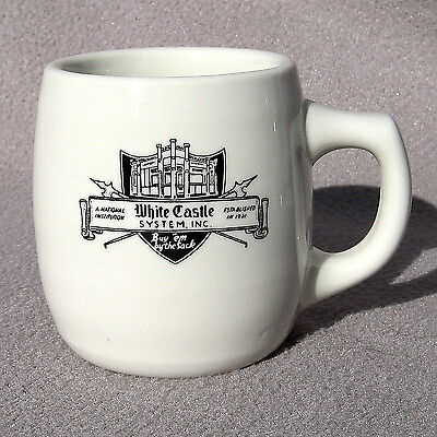 White Castle Coffee Cup Mug Restaurant Ware Mayer China Ashtray Bottom Vintage