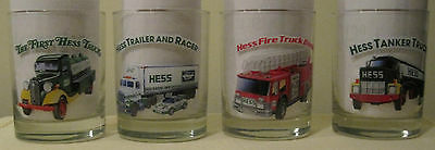 HESS 1996 Set of 4 Toy Truck Glasses NEW