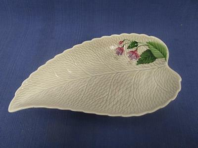 D1038 Vintage CROWN DEVON England Leaf Fuschia Flower Dish