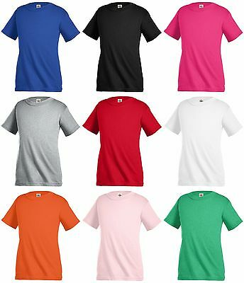 New Delta Apparel T-shirt tee  Kids Children Unisex Girl Boy 100% cotton Plain