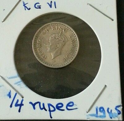 1945 1/4 rupee King George V1 British India