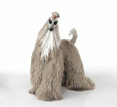 silvery beige Afghan Hound,  needle felted dog, stuffed animals, romantic gift