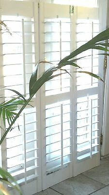 "INTERIOR SOLID WOOD PLANTATION SHUTTERS 3.5"" LOUVERS WHITE 47""W x 60.25""L SET R"