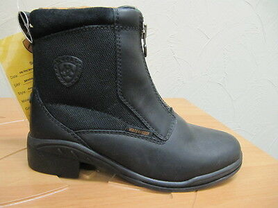 ARIAT - Kid's Arctic Zip Paddock Boots - Black - ( 32101 ) - US13 - Sample