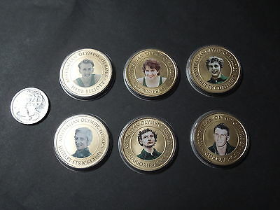 Australian Olympic Heroes Medallion Collection Of 6 Perth Mint