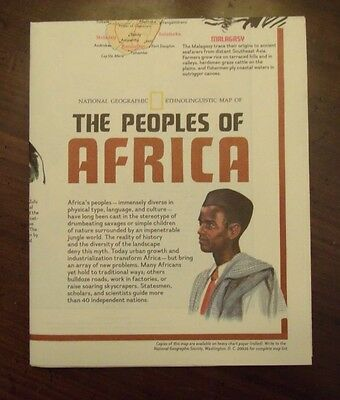 National Geographic Ethnolinguistic Map Of The Peoples Of Africa December 1971