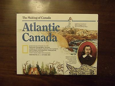 National Geographic Map The Making Of Canada Atlantic Canada October 1993