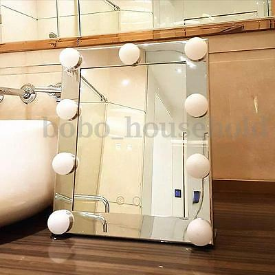 Christmas Vanity Lighted Hollywood Makeup Mirror Dimmer Stage Touch Silver