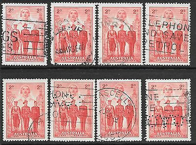 PRE-DECIMAL    2d  RED  ARMED FORCES  X  8 STAMPS