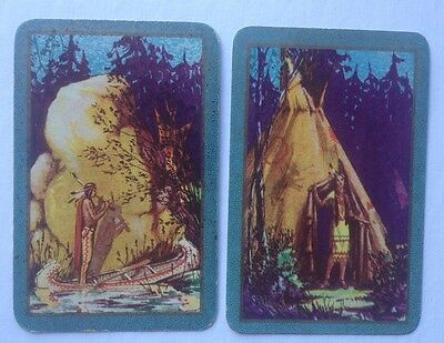 playing cards swap 1 x PR Australian Cards . Indian & Indian Maiden With Teepee