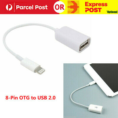 8-Pin OTG to USB 2.0 Female Adapter Cable for iPad 4 iPad Mini iPad Air 2 iPad 5