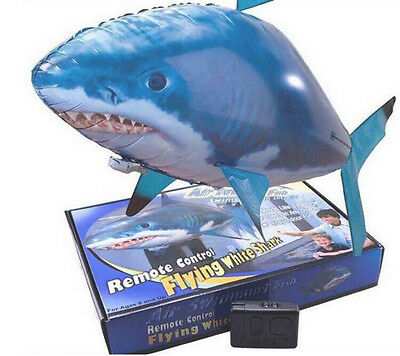 Remote Control Inflatable Balloon Air Swimmer Flying shark Fish Radio Blimp Gift