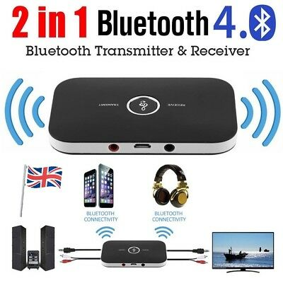 HIFI Wireless Bluetooth Audio Transmitter Receiver 3.5MM RCA Music 2 in1 Adapter
