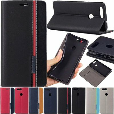 Luxury Flip Cover Card Slot KickStand Wallet Leather Case For Huawei Honor 8